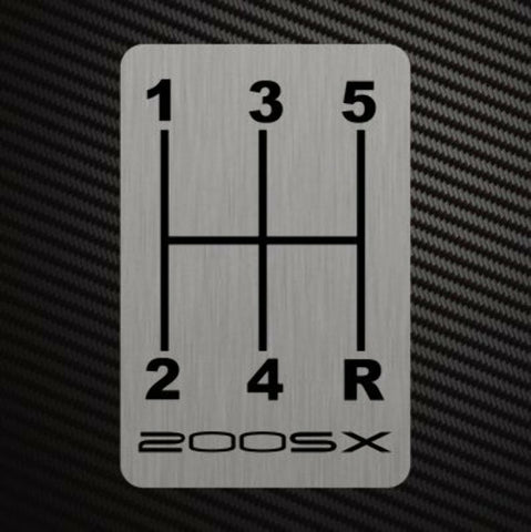 200SX GEARSHIFT H-PATTERN Sticker Decal For Nissan Silvia S14 S15 S13 Race Rally