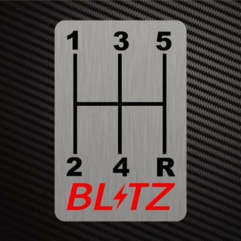 BLITZ GEARSHIFT H-PATTERNS Sticker Decal Gearbox Transmission Manual Race Rally