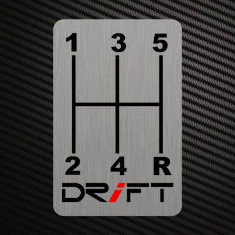 DRIFT GEARSHIFT H-PATTERNS Sticker Decal Gearbox Transmission Manual Race Rally