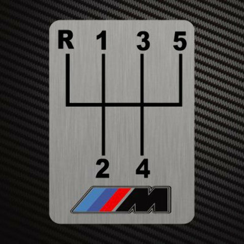 M GEARSHIFT H-PATTERNS Sticker Decal Gearbox Transmission Manual for BMW M3 M4