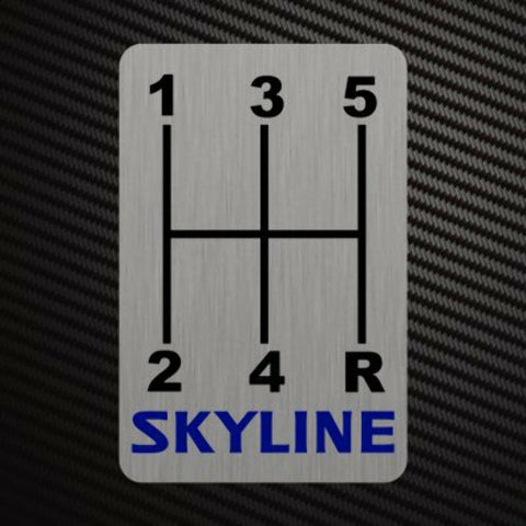 SKYLINE GEARSHIFT H-PATTERNS Sticker Decal Gearbox Transmission Manual for Nissa