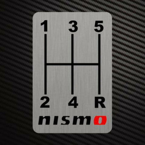 NISMO GEARSHIFT H-PATTERNS Sticker Decal Gearbox Transmission Manual for Nissan