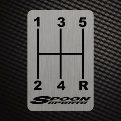 SPOON SPORTS GEARSHIFT H-PATTERNS Sticker Decal Gearbox Transmission Manual