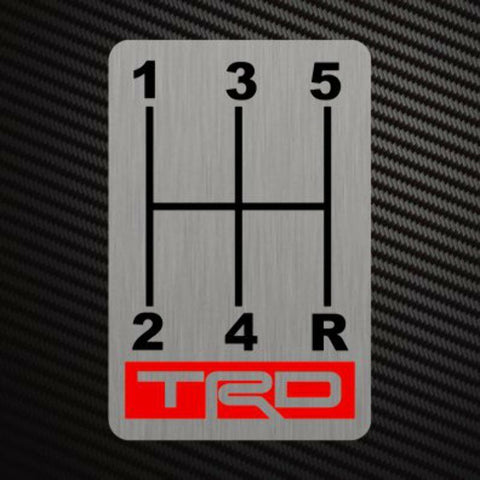 TRD GEARSHIFT H-PATTERNS Sticker Decal Gearbox Transmission Manual for Toyota