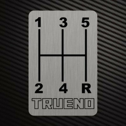 TRUENO GEARSHIFT H-PATTERNS Sticker Decal Gearbox Transmission Manual Race Rally