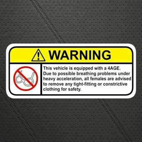 1JZ-GTE Visor Warning Sticker Decal for Toyota Supra Soarer Lexus  IS250