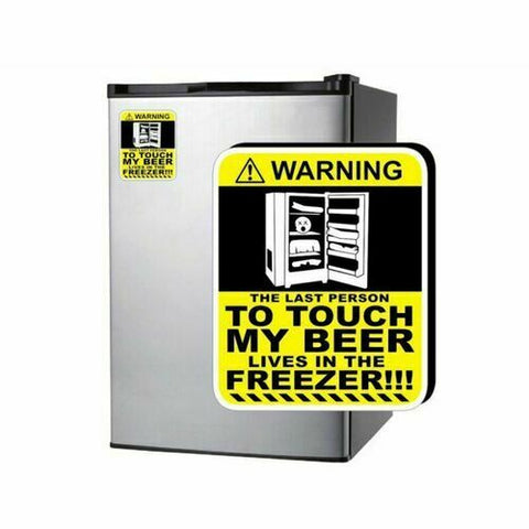 DONT TOUCH BEER Warning Sticker Decal For Fridge Freeze Barfridge Esky Cooler