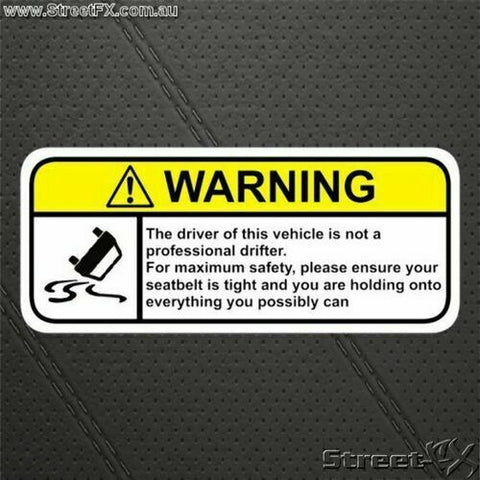 DRIFT Skid Visor Warning Sticker Decal Funny for Nissan Toyota Ford Holden Mazda