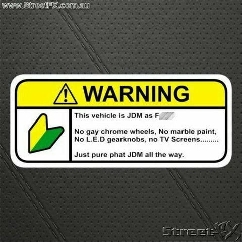 JDM AS F* Visor Warning Sticker Car Bike Jap Decal Funny For Toyota Nissan Mazda