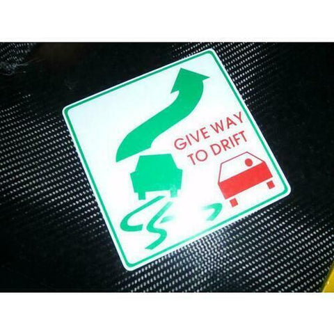 GIVE WAY TO DRIFT Sticker for Scion FR-S FRS FT86 180SX S14 S15 Race Rally V8