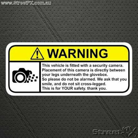 Webcam Security Camera Dashcam Funny Humor Visor Warning Sticker Decal R-Rated