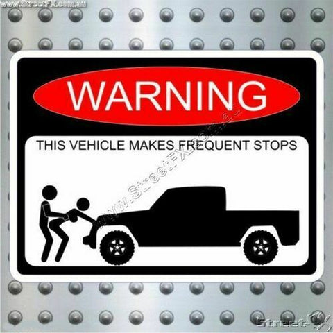 UTE TRUCK Frequently Stopping Warning Sticker for RAM Ranger Navara Colorado