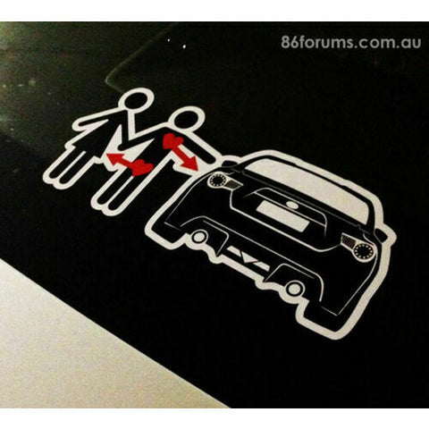 Love 86 Lust Girl Sticker Decal Toyota FT86 Subaru BRZ Scion FRS FR-S JDM Drift