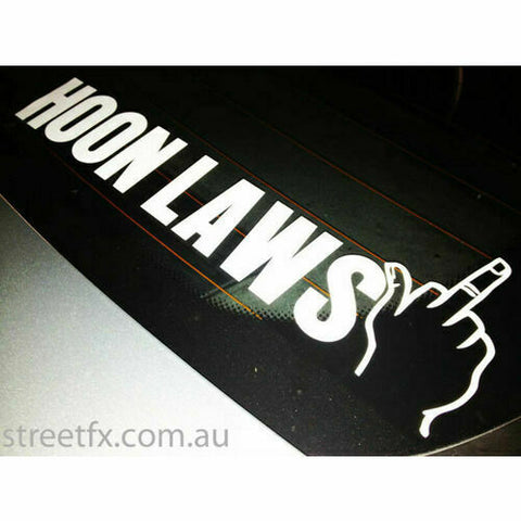 HOON LAWS get the FINGER Stick Decal JDM 4x4 4WD Turbo Stance illest Modified