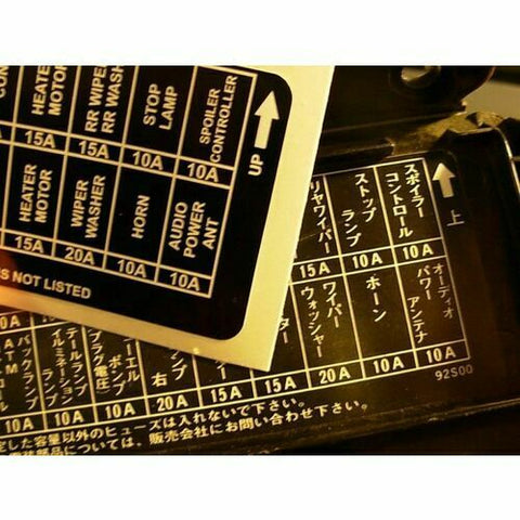 R31 Skyline Fuse Box English Translation For Nissan GT GTS GTS-R Pintara Leopard