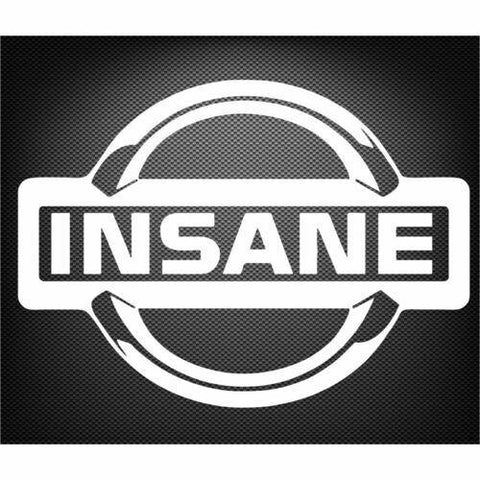 Insane Sticker Decal JDM for Nissan GTR R34 R32 R32 Silvia Navara Patrol XTrail