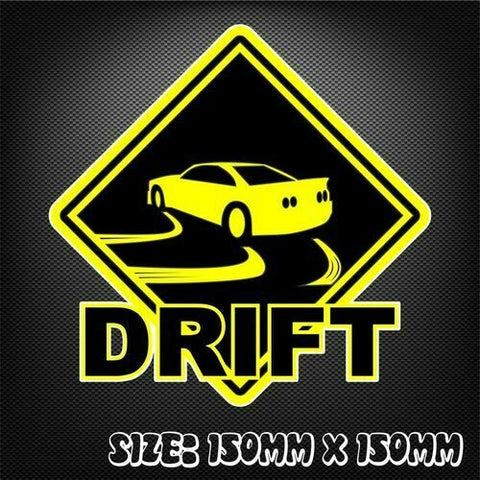 Giveway to Drift Sticker - Decal Funny JDM Drift Turbo Hoon Race Car Full Lock