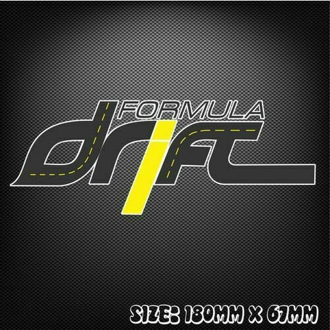 Formula Drift Sticker Decal for Toyota Supra FT86 Nissan Skyline Silvia 180sx V8
