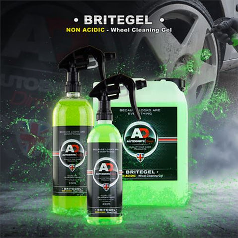 Autobrite BriteGel Non-acid Gel Cleaner 500ml Wheels Rims Mags Tyres Shine Alloy