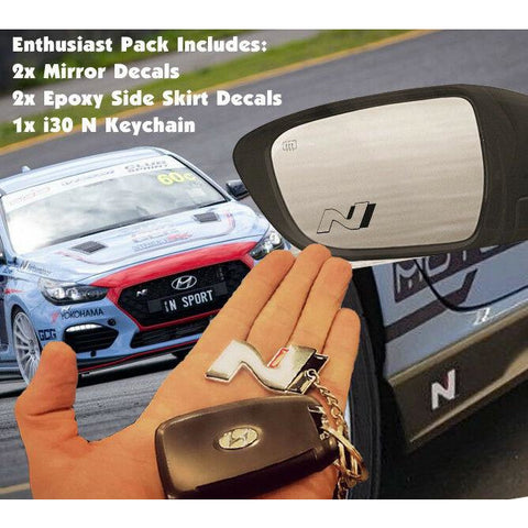 Hyundai i30N Enthusiast Pack  Decal Sticker Keyring Fastback i30 N Veloster N