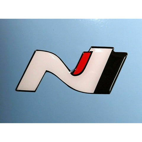 Pair Hyundai i30N Veloster Logo Epoxy Raised 3D Sticker Decal I30 N Turbo Race
