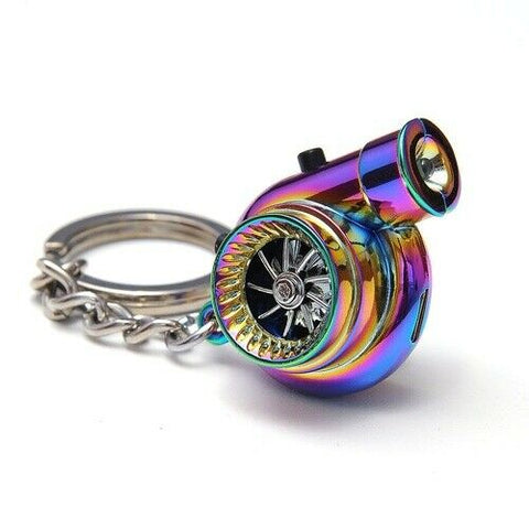 NeoChrome Portable Spinning Turbo Turbine Key·Ring Keychain Ring Keyring Keyfob