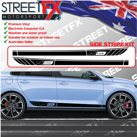 Hyundai I30 I30N Side Door Stripe 2017+ Sticker Decal Kit