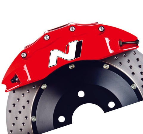 N Series Brake Caliper Decal Redress Kit Sticker ONLY for Hyundai Veloster