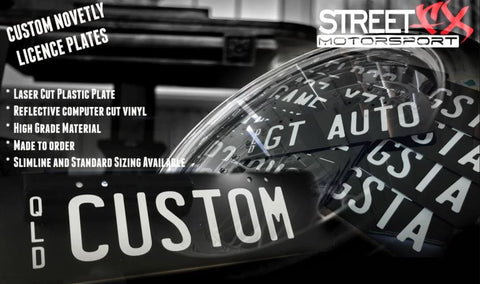 Custom Reflective Novelty Licence Plates
