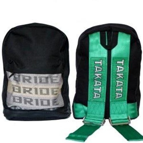Bride & Takata Harness Backpack BLACK BASE JDM Drift Race Rally Turbo Stance