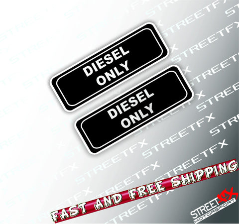 Diesel Fuel Only Sticker Decal Car Truck Ute 4x4 Turbo Petrol Gas Warning