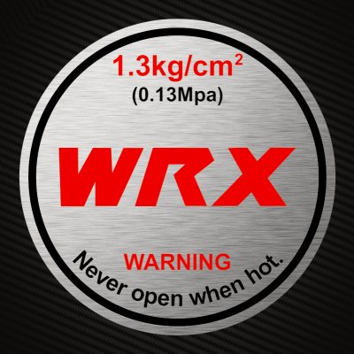 WRX Radiator Cap Sticker Decal