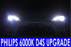 BULBS ONLY 86 GTS Headlight Upgrade 6000k Philips D4S hi/low - Street FX Motorsport & Graphics