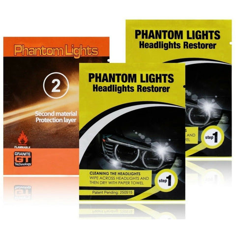 Car Headlights Cleaner Phantom Lights Restoration Kit Cleans Foggy Opaque Lenses