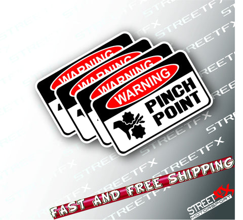Pinch Point Sticker Decal PACK OH&S Safety First Warning Danger Compliant WHSO