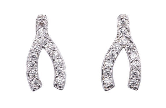 Stardust wishbone earrings