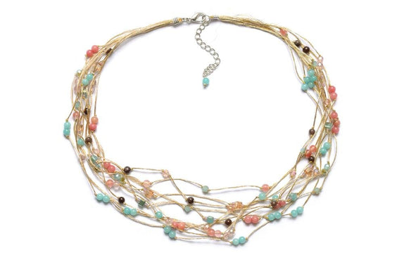 T54-01 : Silk & Stones Necklace
