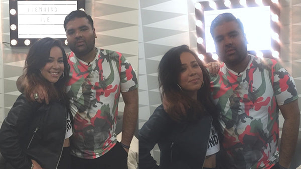 NAUGHTY BOY WEARS AND TALKS SON OF ZEUS CAMOUFLAGE STATUE T-SHIRT ON 4MUSIC