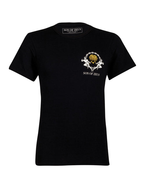 GOLD ROSE T-SHIRT - BLACK