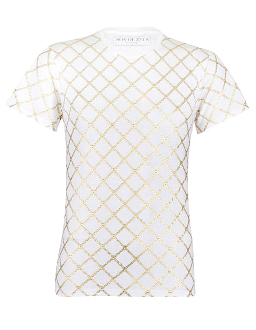 GOLD CHAIN T-SHIRT - WHITE