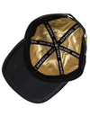 Snakeskin & Leather Snapback Cap