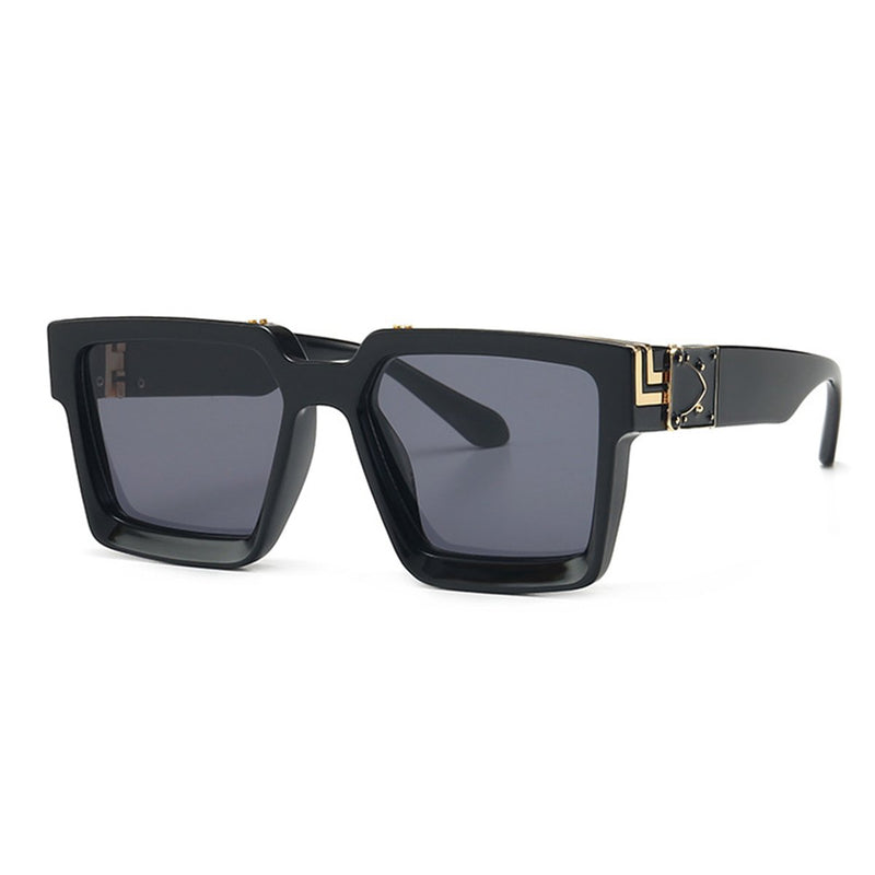 Luxury Square Millionaire Sunglasses-Black-ESSNTLS