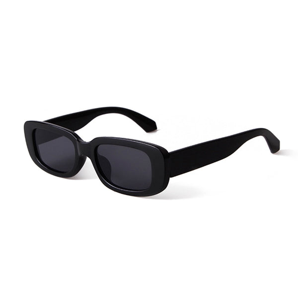 Chunky Frame Square Sunglasses - Black