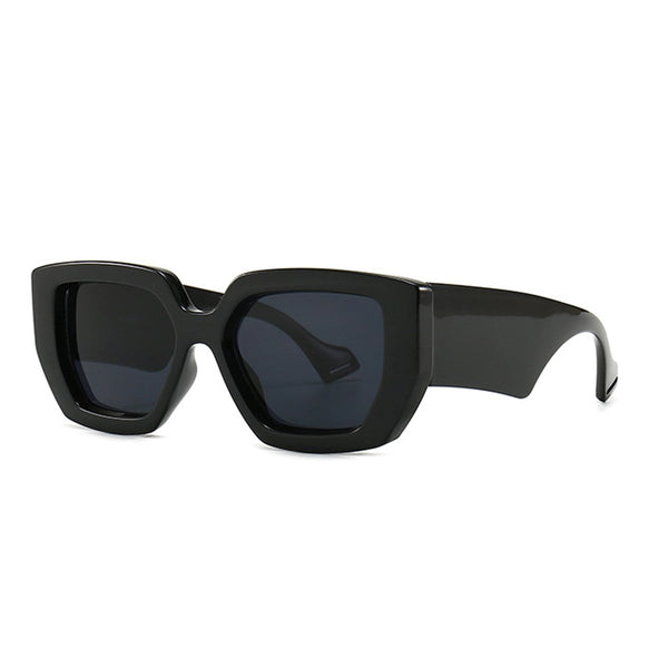 Chunky Hexagon Sunglasses - Black