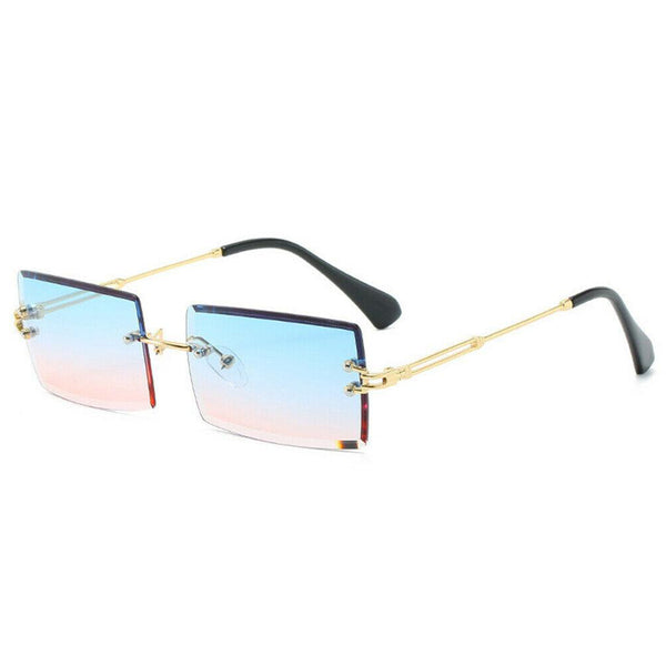 Diamond Cut Rectangle Frame Sunglasses - Candy Floss [PRE-ORDER]