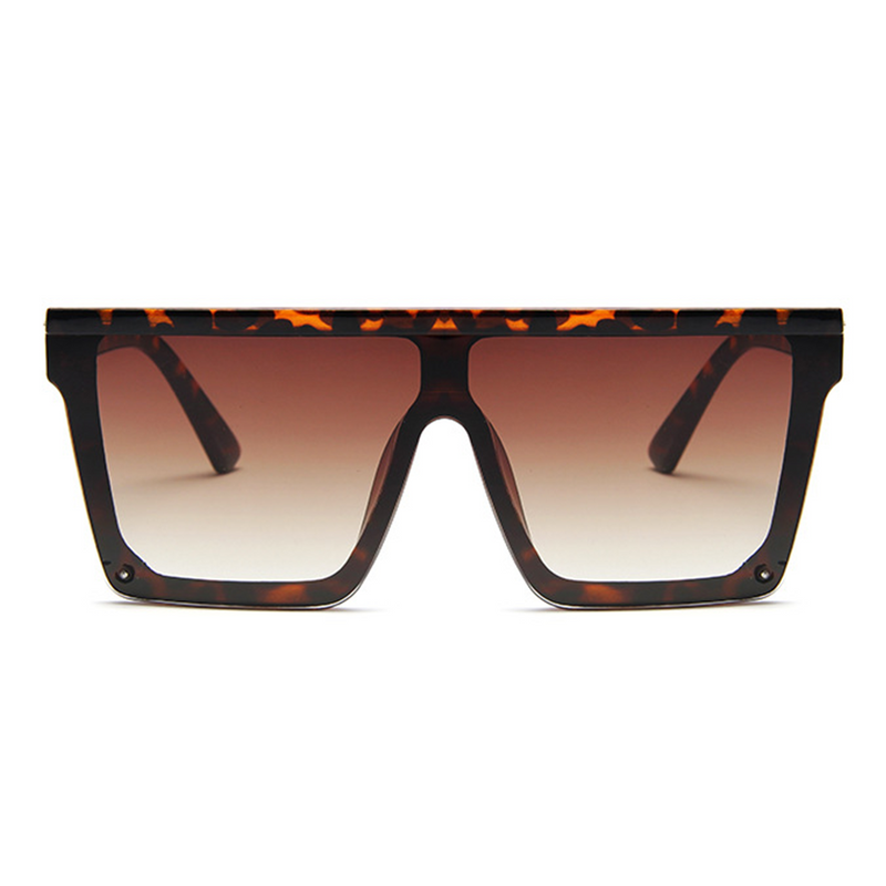 Flat Top Hindsight Oversized Square Sunglasses - Brown