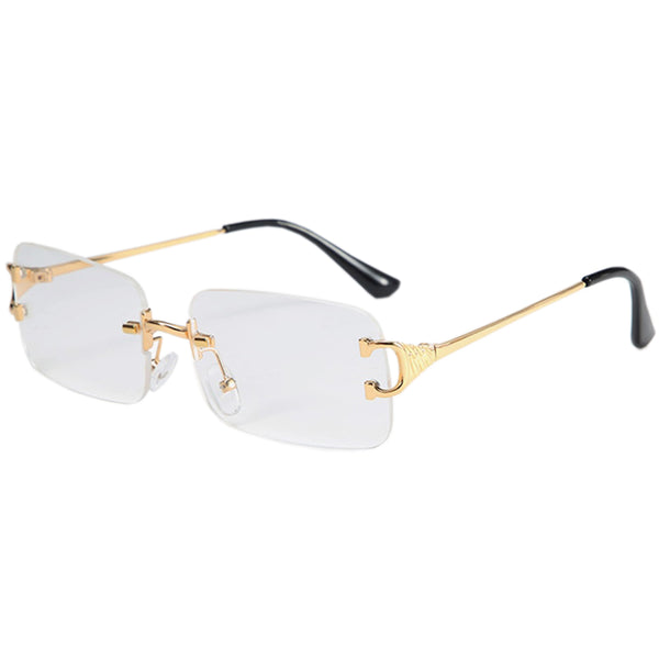 Large Square Rimless Sunglasses - Clear [PRE-ORDER]