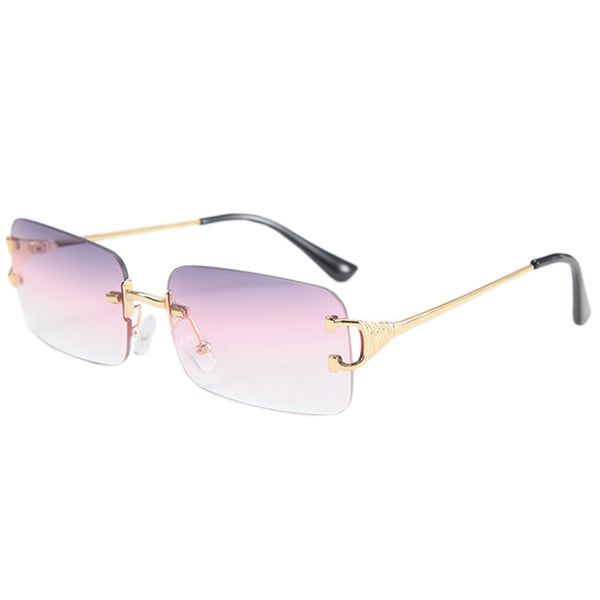 Large Square Rimless Sunglasses - Purple/Clear [PRE-ORDER]