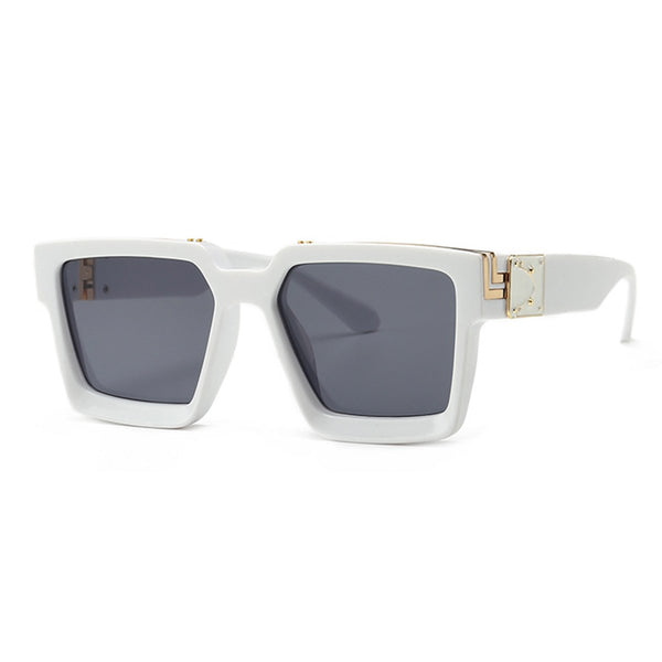 Luxury Square Millionaire Sunglasses - White