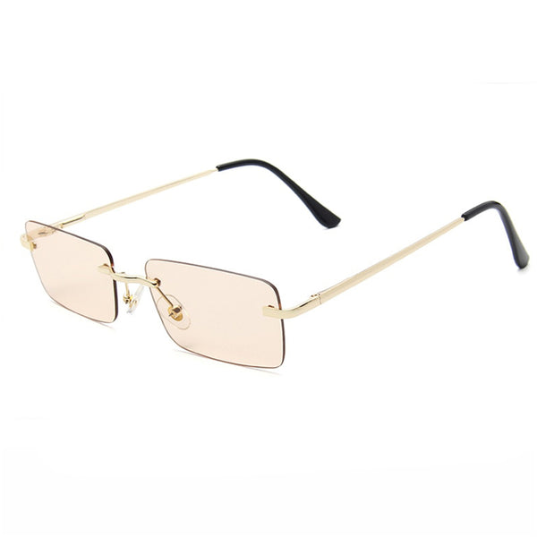 Medium Rimless Rectangle Sunglasses - Brown [PRE-ORDER]